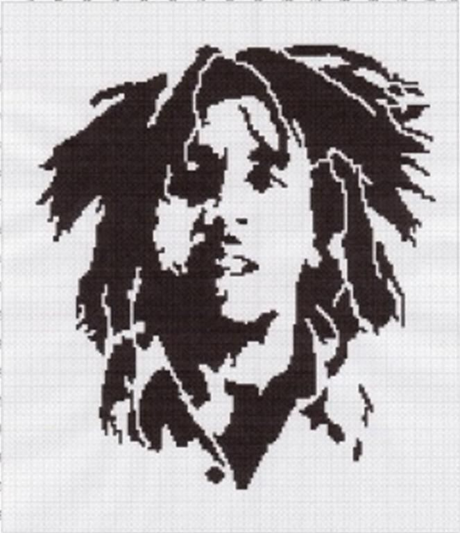 Looking for your next project? You're going to love bob marley afghan graph pattern by designer smileys.stuff.