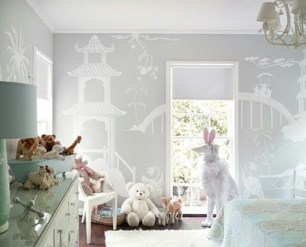 Grey and lime green tone nursery