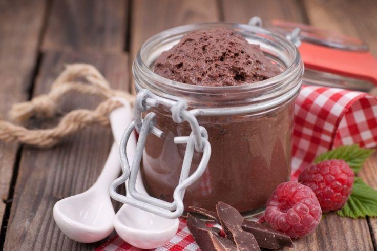 Mousse au chocolat.. yogourt grec et chocolat noir