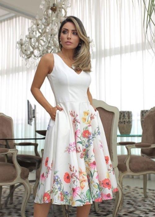 Sou Madrinha de Batismo e agora?! O que vestir?! | Giuli Castro | Vestidos, Vestido de casamento simples, Vestido de festa convidada curto