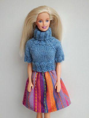 Coltrui met korte mouw met rok voor Barbie.
