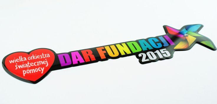 Naklejki 3D Dar Fundacji - druk cyfrowy pełnokolorowy na folii białej