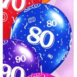 80th Latex Balloons