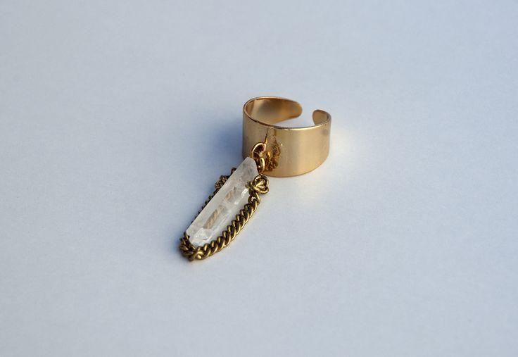 Raw Brass Geometric Quartz Crystal Ring https://www.etsy.com/listing/190379083/raw-brass-geometric-quartz-crystal-ring?ref=listing-shop-header-1