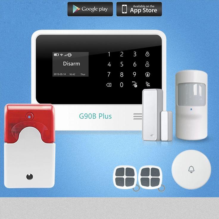 117.00$  Watch more here  - Chuangkesafe G90B Plus GSM Home Burglar Security Alarm System Kits Autodial House Alarm Wireless Intelligence Door Sensor