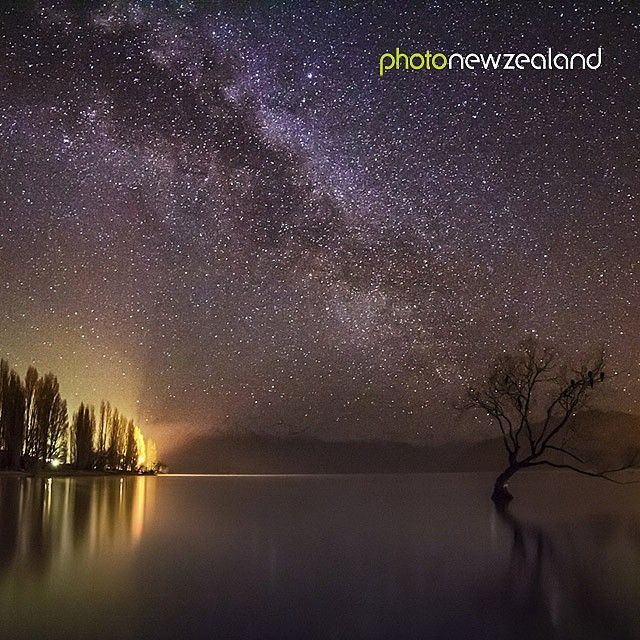 Image of the Day - ‬ ‪The Lone Tree of Lake Wanaka with the Milky Way up above by Mike Mackinven.