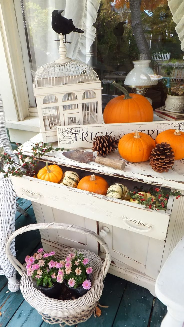Autumn decor, Ash Tree Cottage.  Cottage chic, country, farmhouse, shabby