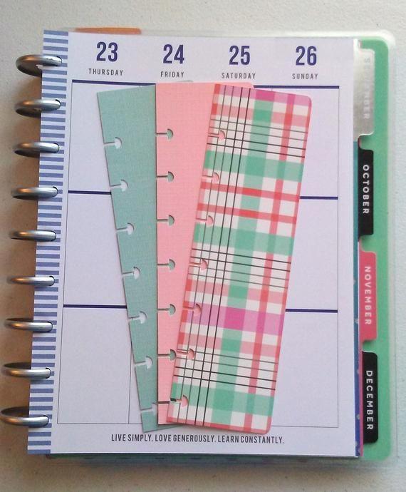 Planner Insert, Happy Planner Bookmarks, Page Marker