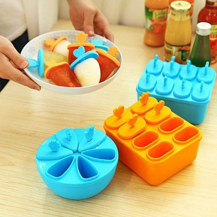 The 6/8 cream mold  from durable material and unique design.Transforms juice, fruit, yogurt, and even pudding into delicious frozen snacks.