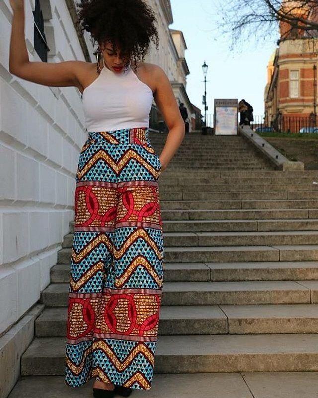 76 best african print trousers pantalons en pagne wax pour femmes images on pinterest. Black Bedroom Furniture Sets. Home Design Ideas