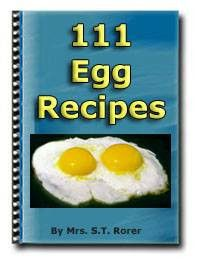111 Egg Recipes By Mrs. S.T. Rorer