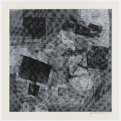 "Surface Series from Currents  Robert Rauschenberg (American, 1925–2008)    1970. One from a portfolio of 18 screenprints, composition: 35 1/16 x 35 1/16"" (89 x 89 cm); sheet: 40 x 40"" (101.6 x 101.6 cm). Gift of the artist. © 2013 Robert Rauschenberg Foundation/Licensed by VAGA, New York, NY1016 Cm, 35 116"