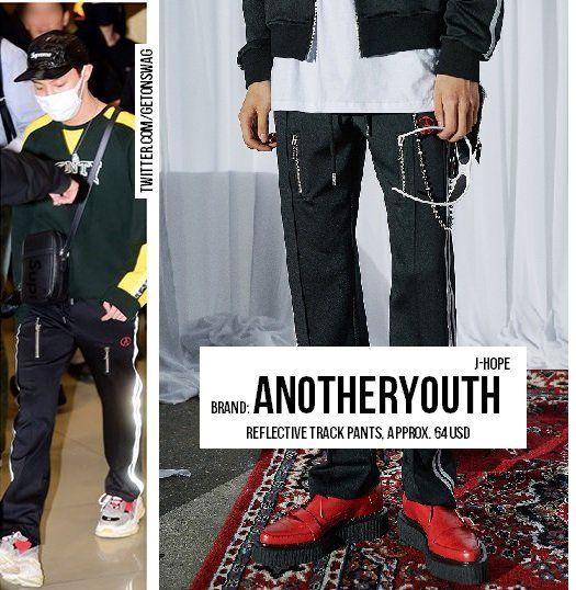 15c7fa28 JHOPE #BTS 171023 airport #JHOPE #제이홉 #방탄소년단 ANOTHERYOUTH - reflective  track pants pic.twitter.com/ysGLju8Fhm