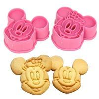 Cortador de biscoitos com marcador - Mickey & Minnie