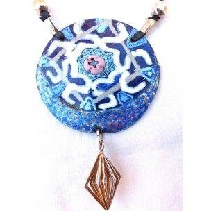 Colgante diseño árabe de Ana Andras #art #handmade #necklace
