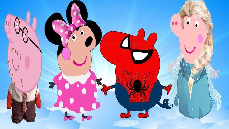 PEPPA PIG en Español Se disfraza de Frozen,Inside out,Minnie y Spiderman...
