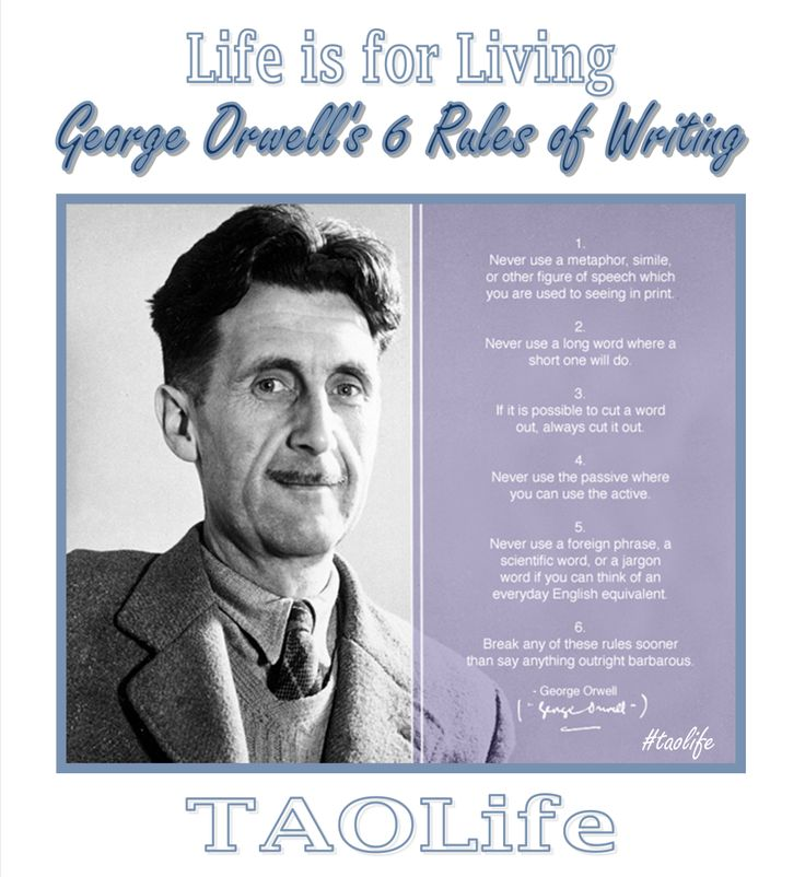 a discussion on the principles of george orwell and the english language Orwell's essay, published in 1946 in cyril connolly's literary review horizon, is not as sarcastic or funny as twain's, but unlike twain, orwell makes the connection between degraded language and political deceit (at both ends of the political spectrum.