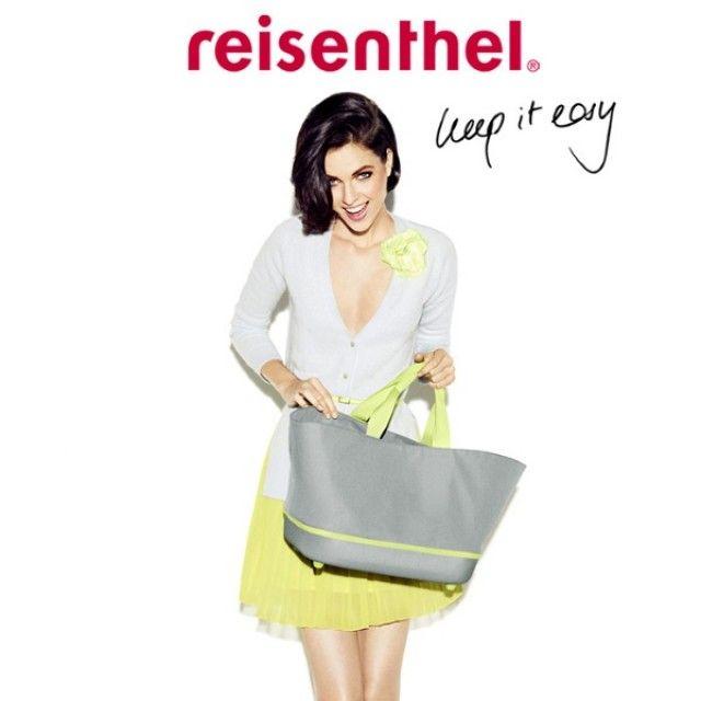 Reisenthel Foldable Shopping Basket 22L in Grey