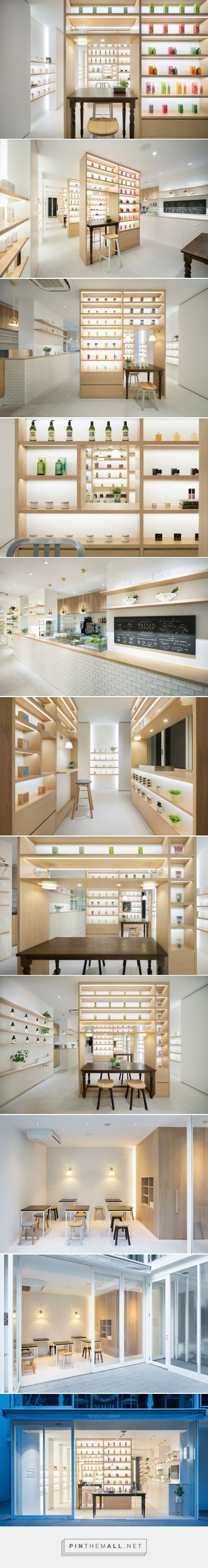 nendo designed cosmetics store in tokyo incorporates self study beauty areas - created via http://pinthemall.net