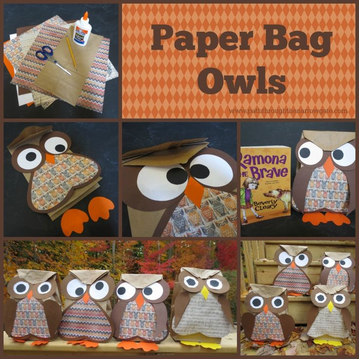 Calendar Preschool Crafts : Paper bag owls twins pinterest beverly cleary owl