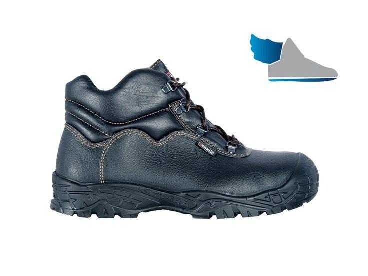 Robotnícke, čierne, členkové topánky  LEVEL UK S3 SRC  z nepremokavej kože (bagadže).