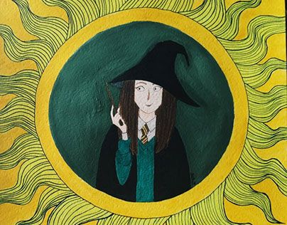 """Check out new work on my @Behance portfolio: """"Harry Potter witch"""" http://be.net/gallery/43906383/Harry-Potter-witch"""
