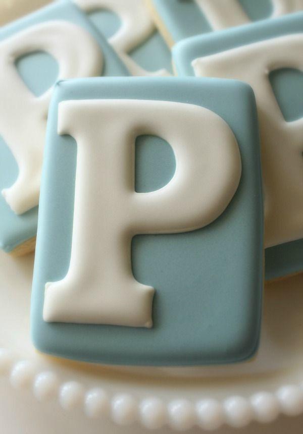 Fancy _P_ Monogram Cookies