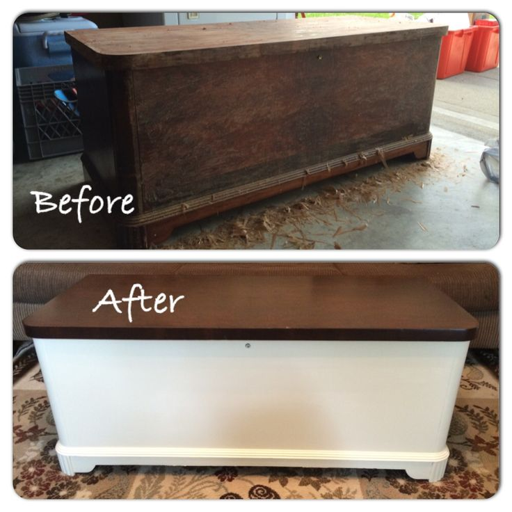 Refinished This Old Cedar Chest Used As A Coffee Table