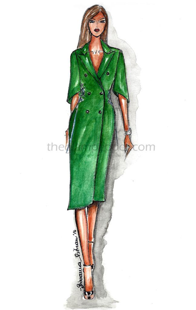 Fashion| Tendenze moda autunno-inverno 2014/15: Verde | #fashion #sketch #illustration #bozzetto #moda #draw #drawinghttp://www.theglampepper.com/2014/11/11/fashion-tendenze-moda-autunno-inverno-201415-verde/