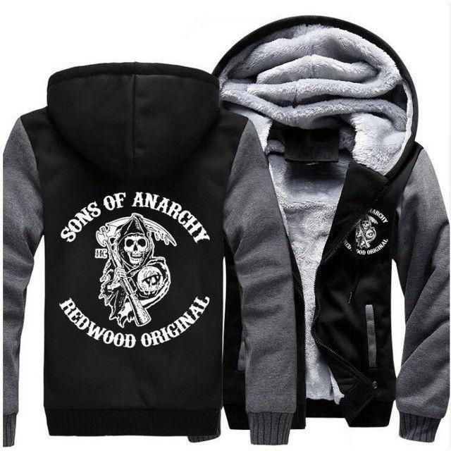 Sons of Anarchy Zipper fleece casual Hoodies