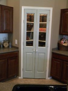 Pantry With Wooden Double Doors