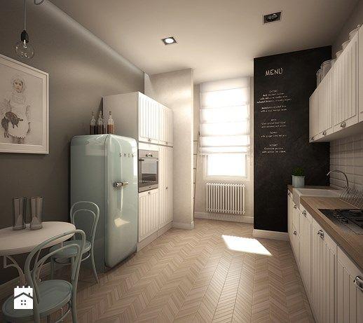 Kamienica - Duża zamknięta kuchnia dwurzędowa, styl klasyczny - zdjęcie od TK Architekci