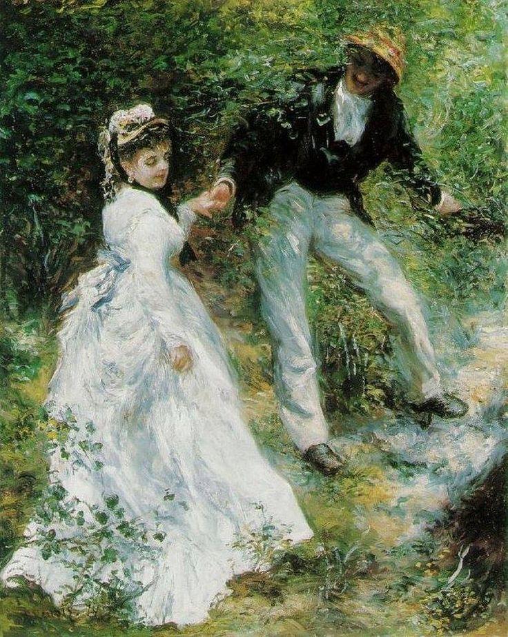 Pierre-Auguste Renoir La passeggiata1870 olio su tela 65x81 cm Getty Museum di Los Angeles
