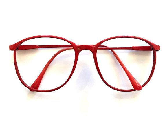 Vintage glasses Red Glasses wire framed glasses Big glasses Retro ...
