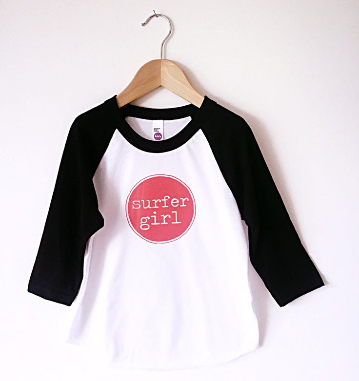Cool kids 'SURFER GIRL' raglan shirt - surf kids clothing - surf baby clothing - hipster baby clothes - kids beach clothes - surf apparel by…