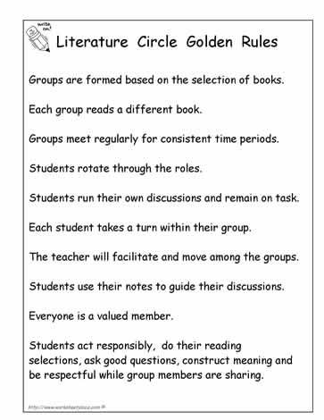 literature circle rules