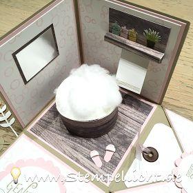 Explosionsbox im Badezimmer Look oder für Wellness mit Stampin´Up!
