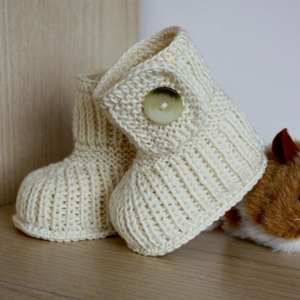 Ugg Baby Boots Knitting Pattern