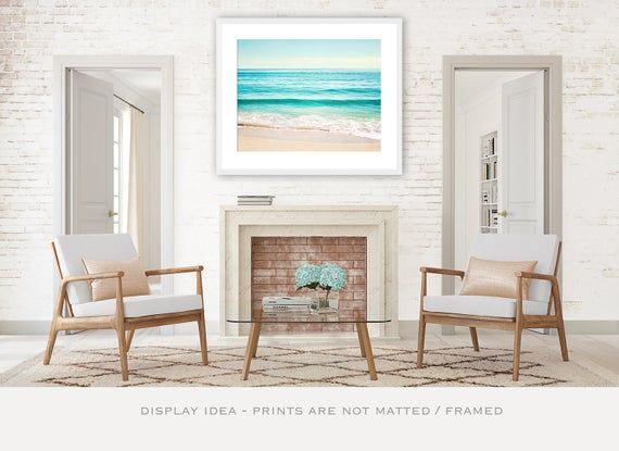 Ocean Wall Art Beach Art Print Coastal Photography Modern Etsy