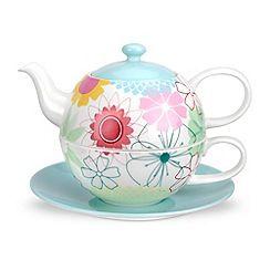 Portmeirion - Multicoloured 'Crazy Daisy' tea for one set