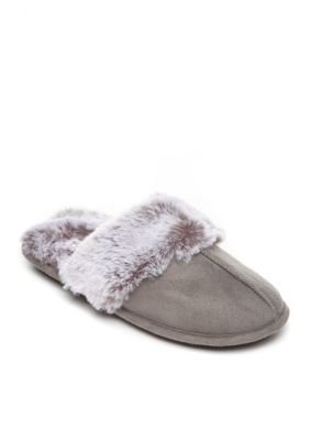 Jessica Simpson Women's Microsuede Slippers - Gray - Xl
