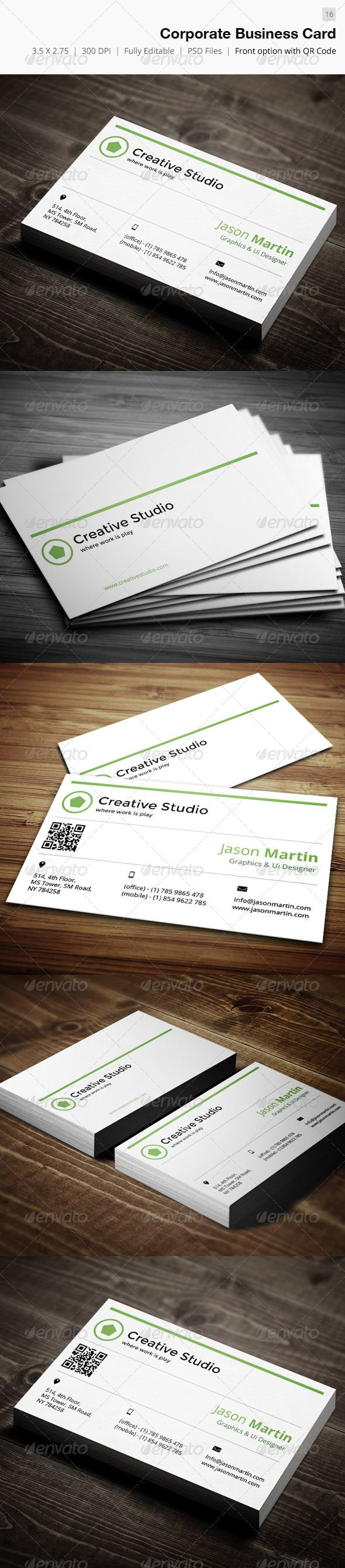 85 best print templates images on pinterest print templates corporate business card 16 reheart Image collections