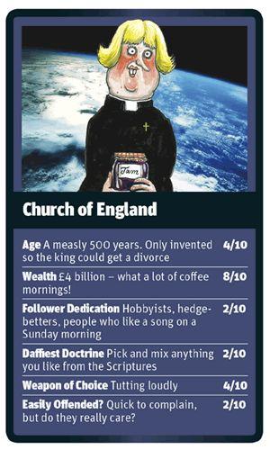 God Trumps Church of England card
