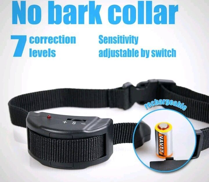 Anti bark dog collar electric rover pet safe no barking dog training collar new  #Nobark