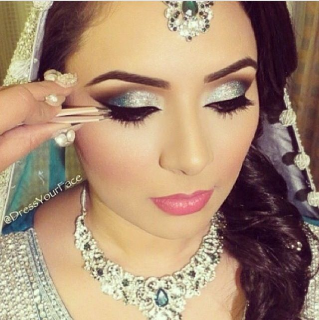 Indian Bridal Eye Makeup: Indian Wedding Makeup. Love The Glittery Eyes