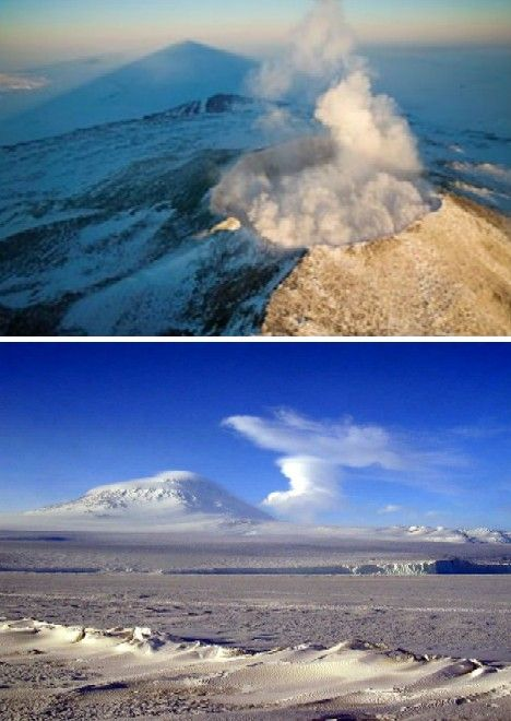 Kickin' Ash: 10 Amazing Active Volcanoes,  Erebus, Antarctica