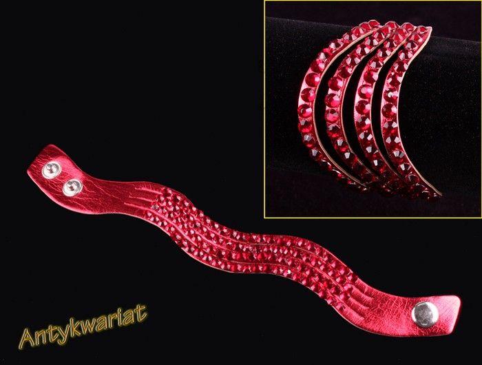 BG 1042 BRANSOLETKA RZEMIEŃ SKÓRA Z REGULACJĄ 22cm 1szt - Bransoletki - Biżuteria gotowa - Katalog