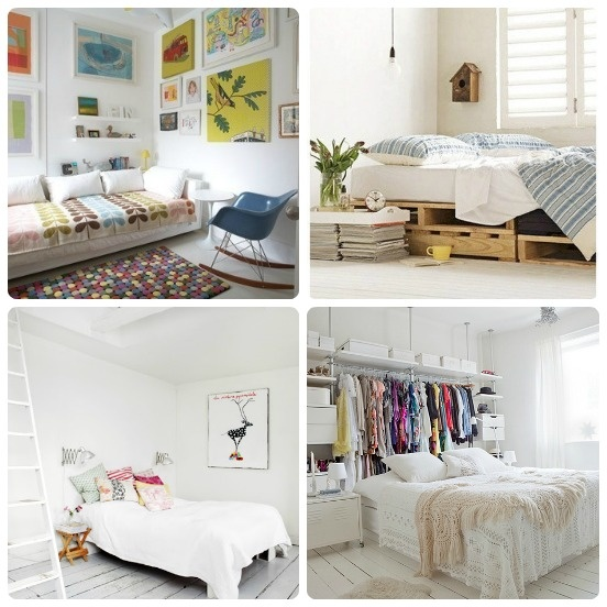 White Bedroom Hide-away...bed Base Made From Recycled