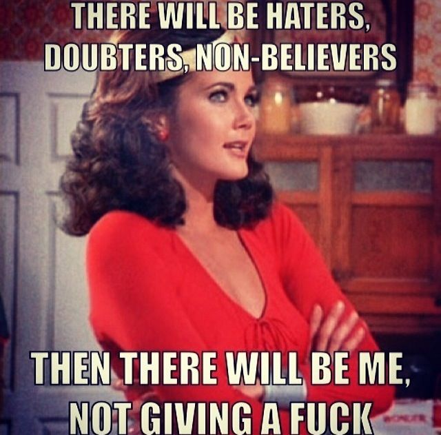 There will be haters... Loll Wonder Woman