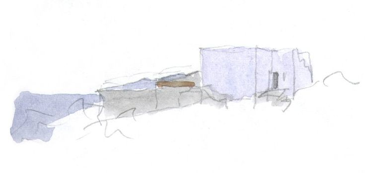 Sketch of a mediterranean house Ibiza by Ramon Esteve architects